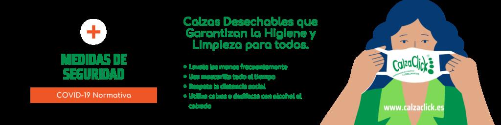 Calzas Desechables que Garantizan la Higiene y Limpieza para todos. Desinfecta el Calzado contra el COVID 19